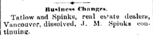 Tatlow & Spinks 1891